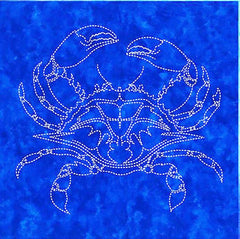 Sashiko - Pre-printed Sea Life Panel - Crab