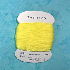 Sashiko Thread - Daruma - Medium/ Regular Weight - 30m - # 203 Lemon Yellow