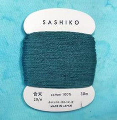 Sashiko Thread - Daruma - Medium/ Regular Weight - 30m - # 205 Teal