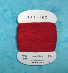 Sashiko Thread - Daruma - Medium/ Regular Weight - 30m - # 213 Red