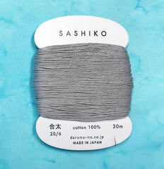 Sashiko Thread - Daruma - Medium/ Regular Weight - 30m - # 217 Grey