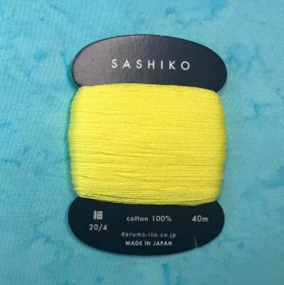 Sashiko Thread - Daruma - Thin Weight - 40m - # 203 Lemon Yellow