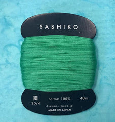 Sashiko Thread - Daruma - Thin Weight - 40m - # 207 Green