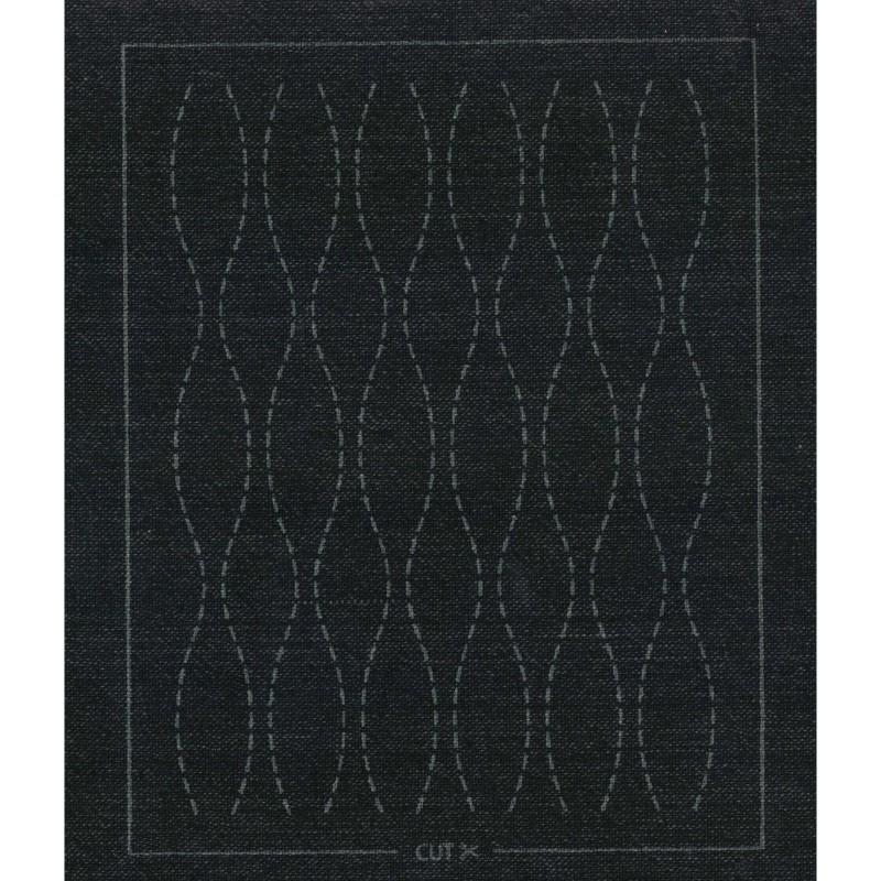Sashiko Patches for Quilting, Boro, Mending - MC-2 - Black Brown