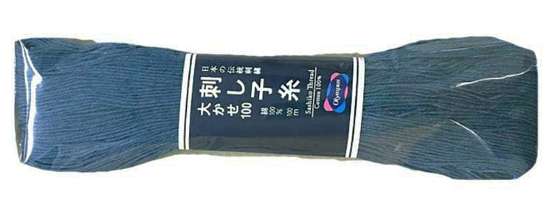 Sashiko Thread - Olympus - Large 100m Skeins - # 109 - Denim Blue