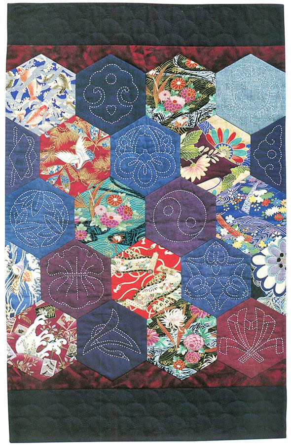 Book - QUILTING WITH JAPANESE FABRICS - Kitty Pippen
