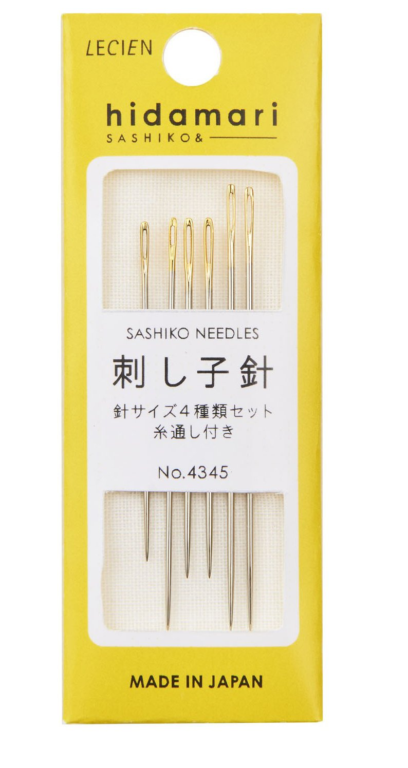 Notions - Hidamari Sashiko Needles & Threader - 6 needles - 4 sizes