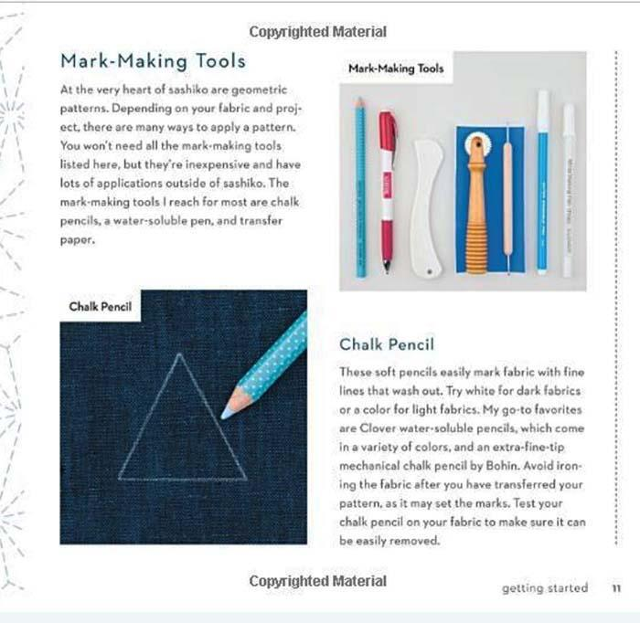 Book - MAKE & MEND: Sashiko-Inspired Projects - Jessica Marquez