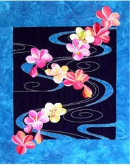 Sashiko - Sylvia Pippen Designs - Plumeria Floating on Water - Pattern
