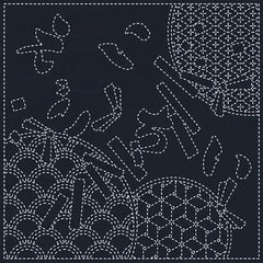 Sashiko Pre-printed Sampler - # SC0017-10 - Wishes