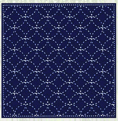 Sashiko Pre-printed Sampler - # 843S-203 - Seven Treasures - Navy