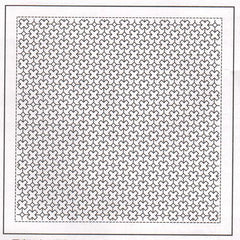 Sashiko Pre-printed Sampler - # 1024 Diagonal Cross-tsunagi - White