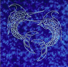 Sashiko - Pre-printed Sea Life Panel - Swordfish