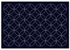 Sashiko Placemat Sampler - L2001 - Navy - Seven Treasures