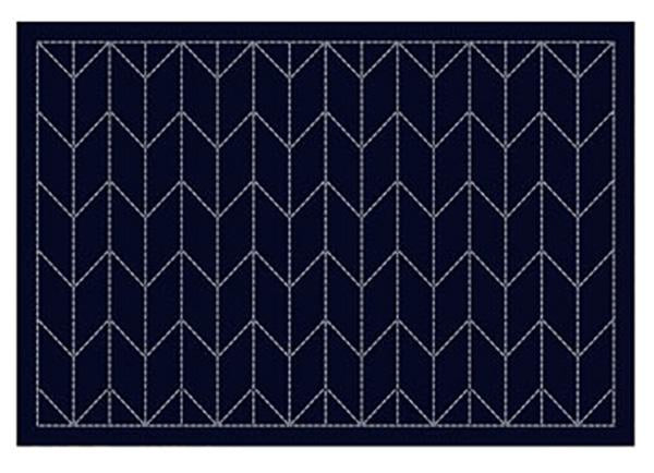 Sashiko Placemat Sampler - L2002 - Navy - Arrows