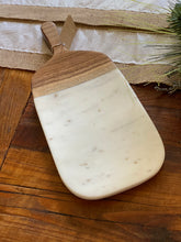 Load image into Gallery viewer, Marble Cheese/Cutting Board with Wood Handle