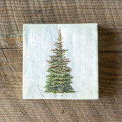 Spruce Tree Paper Beverage Napkins