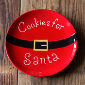Big Santa Cookie Plate