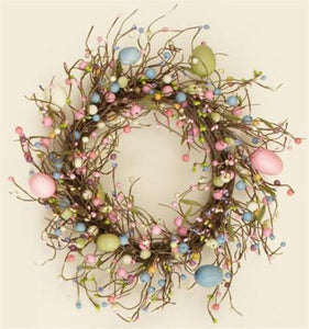 Spring Eggs & Berries Wreath