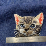 Iron-on Realistic Cat Patches