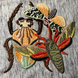 Big and Beautiful Sew-on Embroidered Insect Patches (3pc)