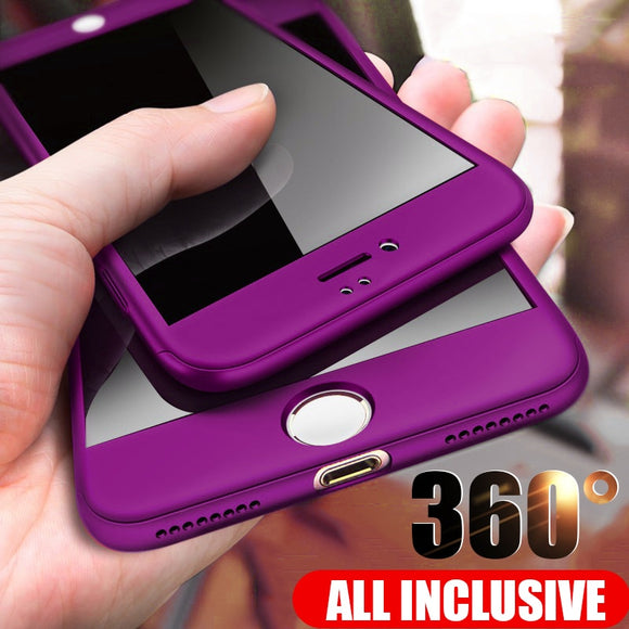 ZNP 360 Full Protective Phone Case For iPhone 8 7 Plus 6 6s Case 5 5S SE X 10