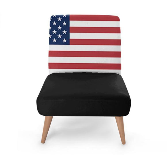 American Flag Print Occasional Chair Occasional Chair Cult Art Fusion