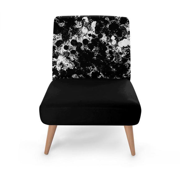 Black Print Occasional Chair Occasional Chair Cult Art Fusion