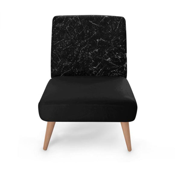 Black Swirl Effect Occasional Chair Occasional Chair Cult Art Fusion