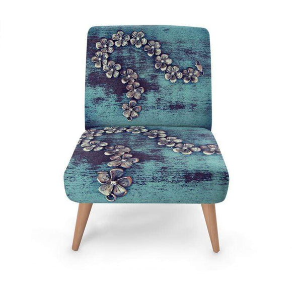 Blue Occasional Chair Occasional Chair Cult Art Fusion