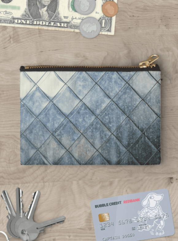 Copy of Luxury Zipper Pouch Grey Diamonds Print Zipper Pouch Cult Art Fusion
