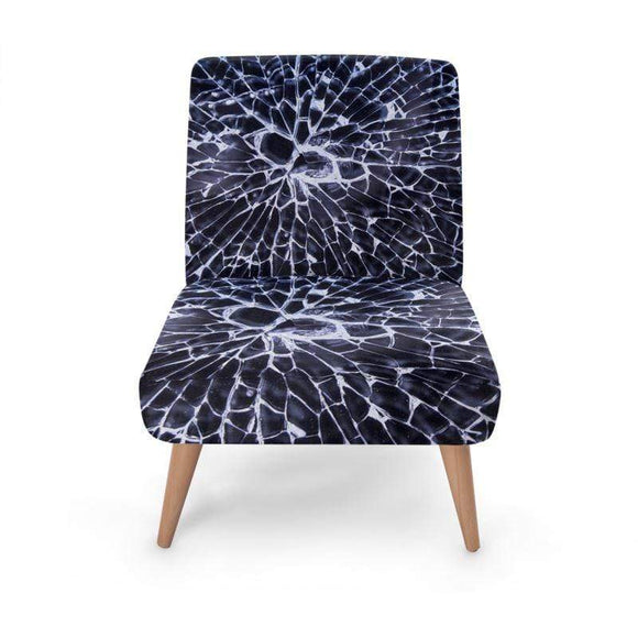 Cracked Print Occasional Chair Occasional Chair Cult Art Fusion