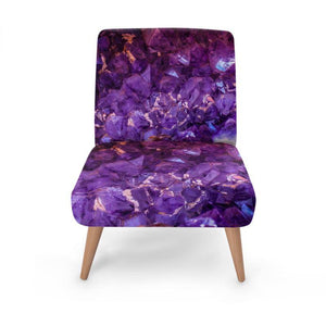 Dark Amethyst Occasional Chair Occasional Chair Cult Art Fusion