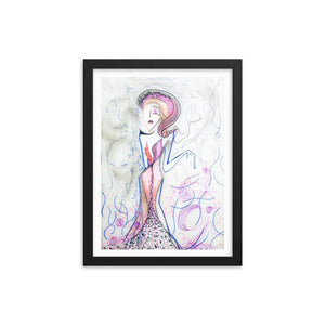 Deity Soft Wooden Framed Print Cult Art Fusion