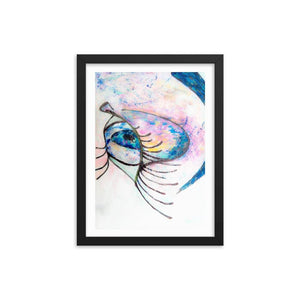 Dreamy Eyez Wooden Framed Print Cult Art Fusion