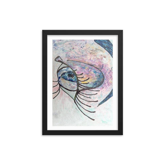 Eyez Of Love Wooden Framed Print Cult Art Fusion