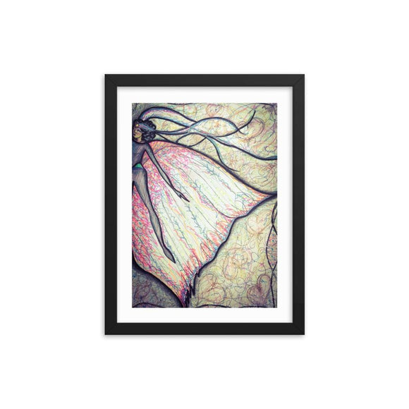 Fairy Queen Mood Wooden Framed Print Cult Art Fusion