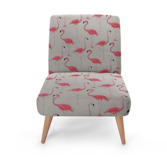 Flamingo Print Occasional Chair Occasional Chair Cult Art Fusion