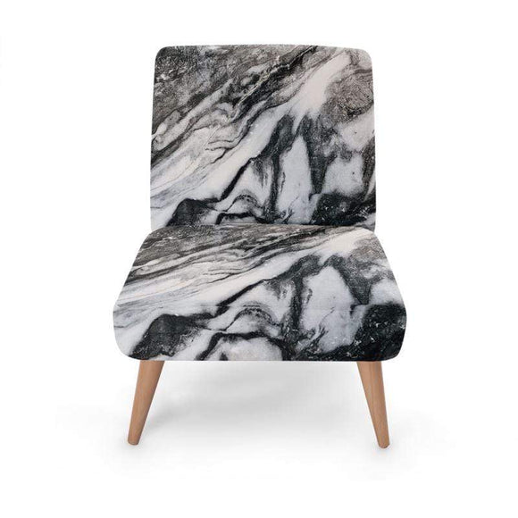 Full Marble Print Occasional Chair Occasional Chair Cult Art Fusion