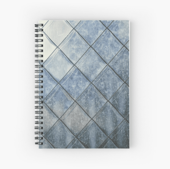 Gorgeous Spiral Notebook Grey Diamonds Print Notebook Redbubble