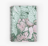 Gorgeous Spiral Notebook Spring Leaf Print Notebook Redbubble