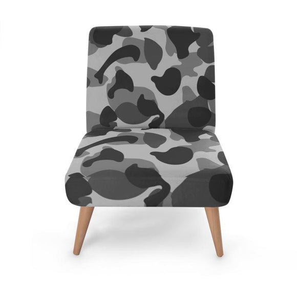 Grey Camo Occasional Chair Occasional Chair Cult Art Fusion
