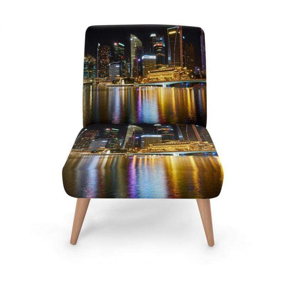 Harbour Scene Occasional Chair Occasional Chair Cult Art Fusion