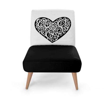 Heart Charm Occasional Chair Occasional Chair Cult Art Fusion