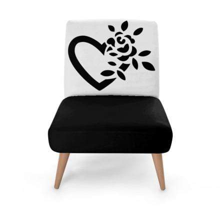 Heart Flower Occasional Chair Occasional Chair Cult Art Fusion