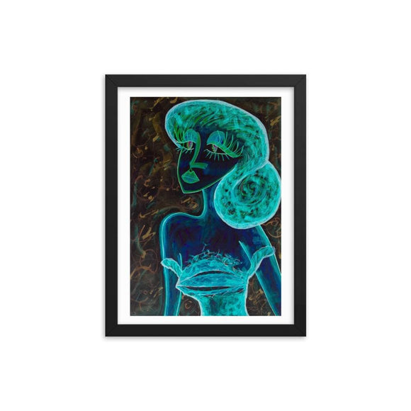 I Love You X Wooden Framed Print Cult Art Fusion