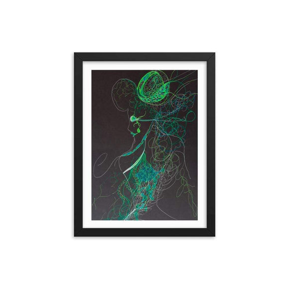 Intuition X Wooden Framed Print Cult Art Fusion