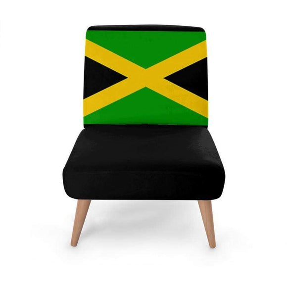 Jamaican Flag Occasional Chair Occasional Chair Cult Art Fusion