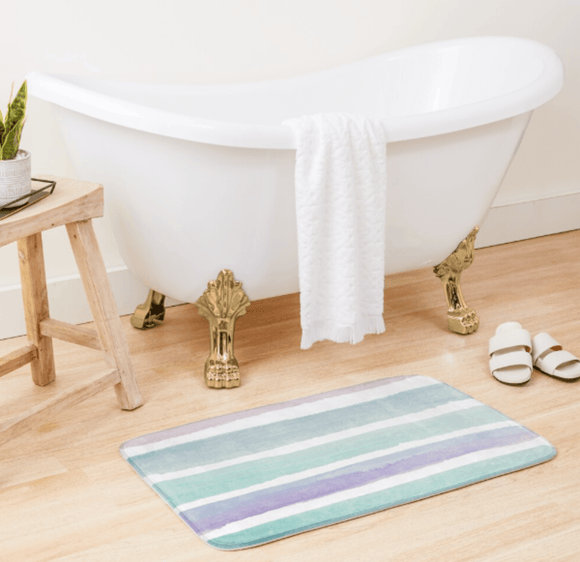 Luxury Bath Tub Shower Mat Pastel Dream Bath Mat Redbubble