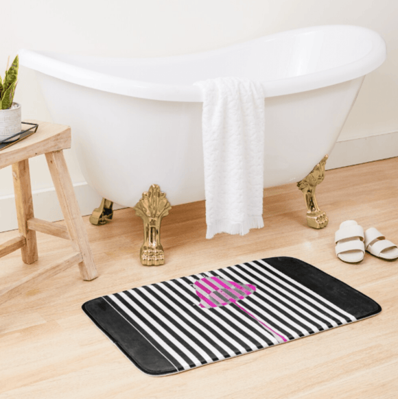 Luxury Bath Tub Shower Mat Pink Lipstick Bath Mat Large 86x53 Centimeters Redbubble